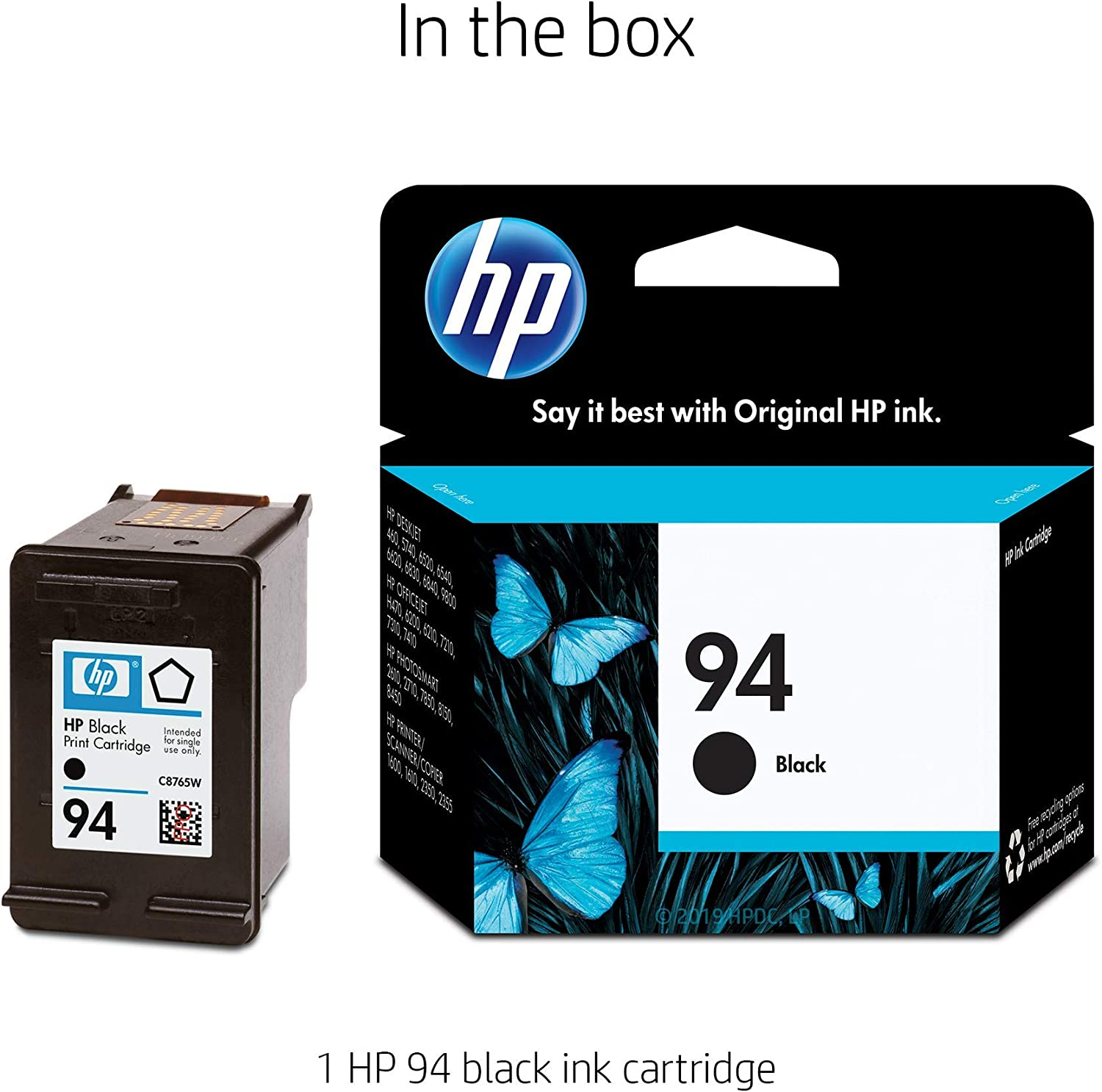 Amazon.com: HP 94 (C8765WN) cartucho original color negro ...