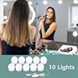Consciot Vanity Lights for Mirror, Hollywood Style Vanity Mirror Lights Kit with 10 LED Bulbs, Dimmable Adjustable…