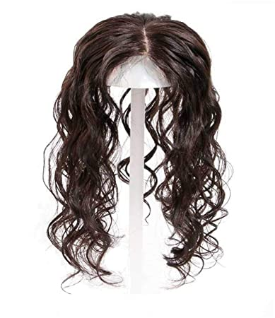 Amazon com : Curly Human Hair Crown Topper for Women with Thinning
