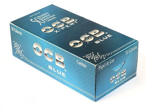 Ocb X-Pert - Papel de liar azul corto, caja de 50 librillos