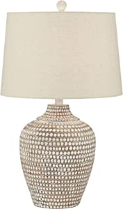 Alese Neutral Earth Polka Dot Jug Table Lamp