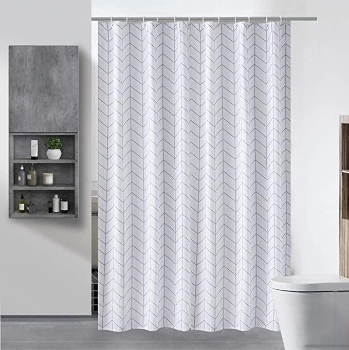 SHU UFANRO - Cortina de Ducha de poliéster Impermeable para baño, Lavable a máquina: Amazon.es: Hogar