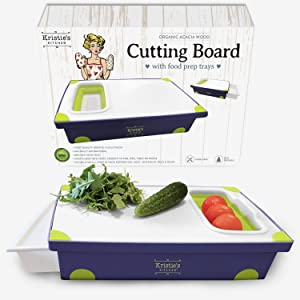 Cutting Board with Tray - Cutting Boards for Kitchen Plastic with Strainer – Cutting Boards Dishwasher Safe