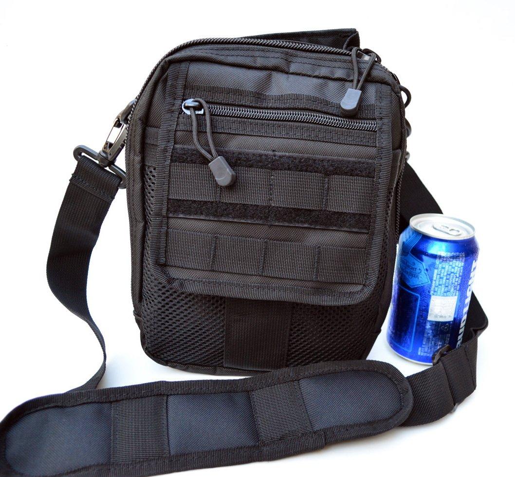 5f6a46d04ce Amazon.com   Acid Tactical Molle Pistol Gun Case Concealed carry Bag  Utility Pouch Range Bag (Black)   Sports   Outdoors