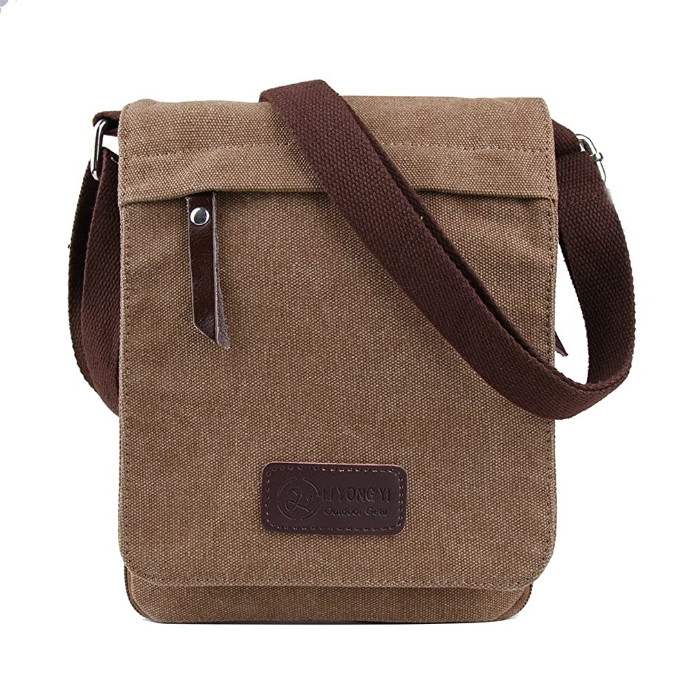 Genda 2Archer Small Canvas Leisure Satchel School Messenger Bag Pack Organizer