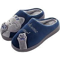CELANDA Zapatillas de Casa para Mujer Hombre Cálido Zapatos de Estar Otoño Invierno Interior Casa Slippers Suave Algodón…