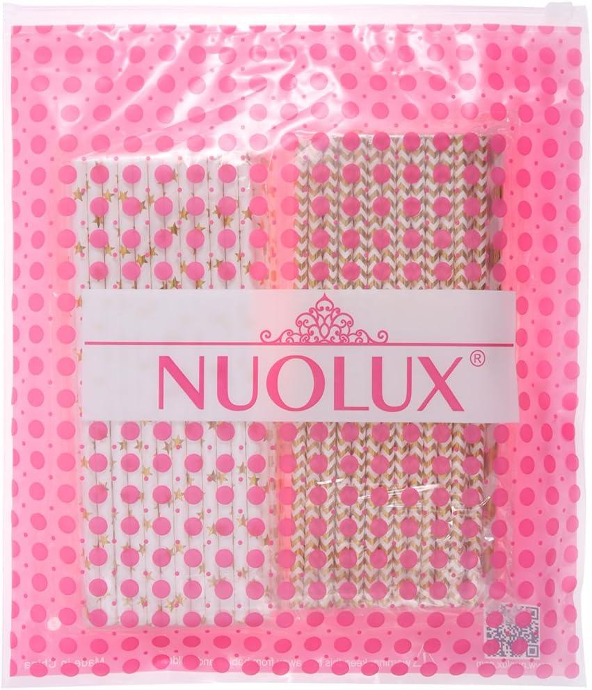 Toyvian NUOLUX - Pajitas de Papel de Color Dorado y Blanco con ...