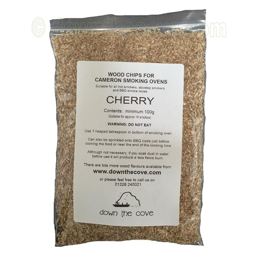 100g Cherry Wood Chips / Wood Dust for Hot Smokers / Smoking Ovens / BBQ Various