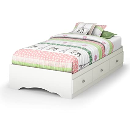 Amazoncom South Shore Tiara Collection Twin Bed With Storage