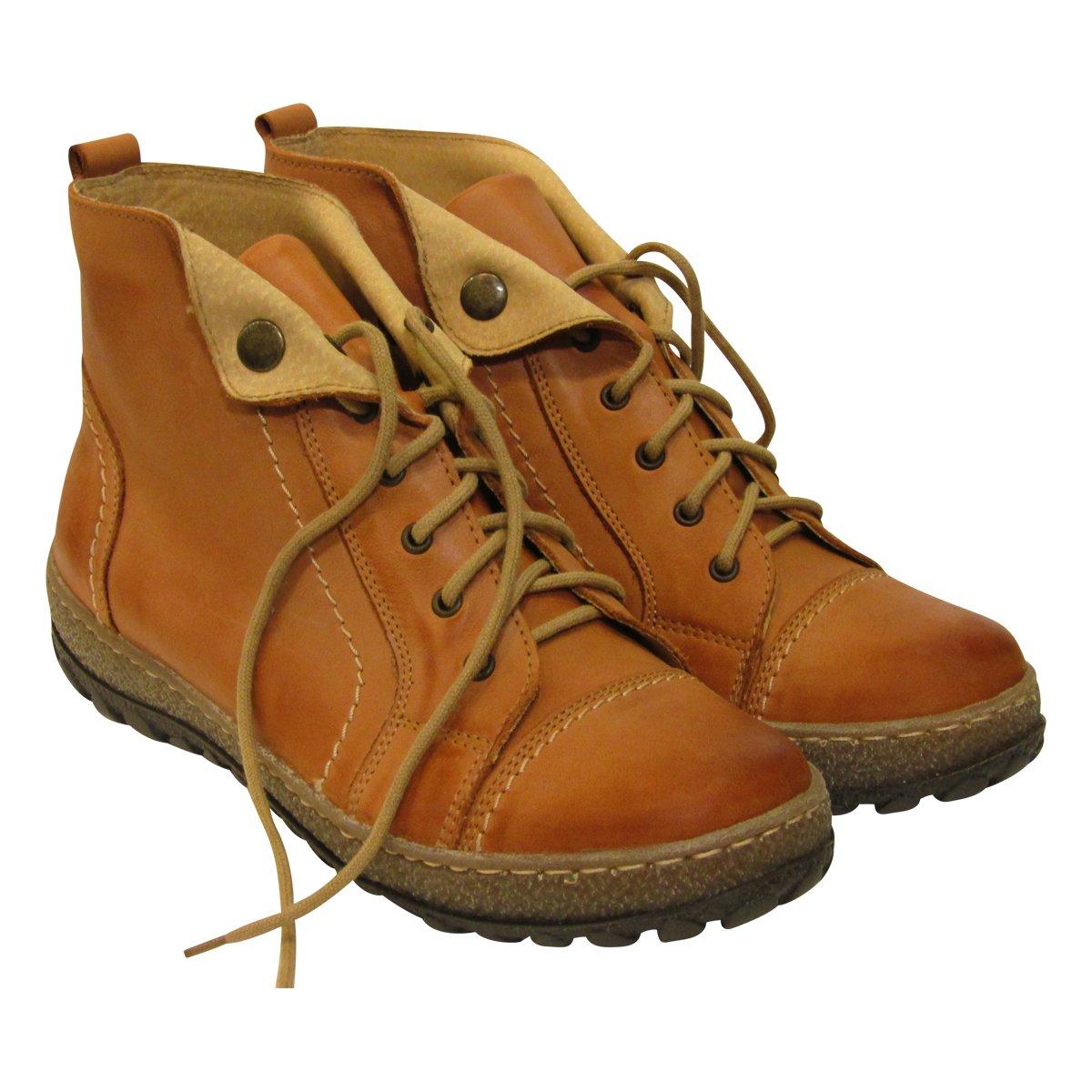 V Italia 1041 Women's Kiki Casual Leather Trainers B01N91JNOG 36 EU|Camel Distressed