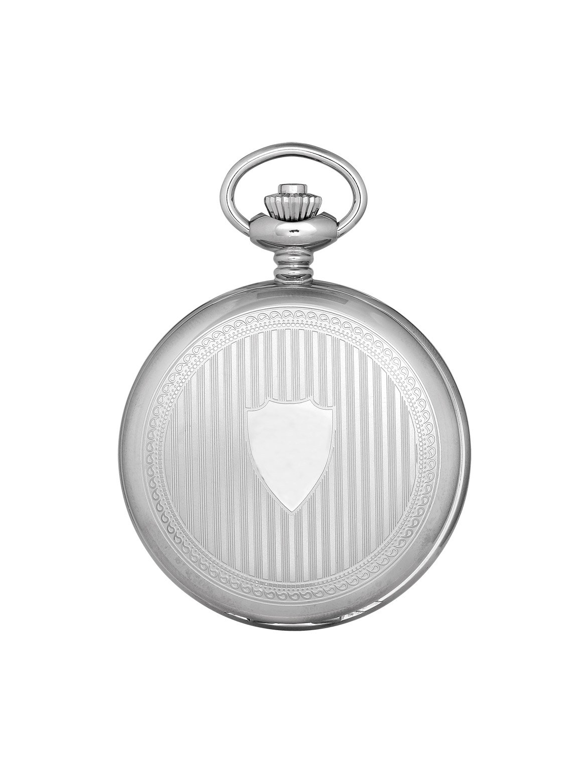 CDM product Charles-Hubert, Paris Premium Collection Stainless Steel Mechanical-Hand-Wind Pocket Watch (Model: DWA007) big image