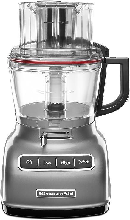 KitchenAid KFP0933CU 360W Negro, Plata - Robot de cocina (Negro, Plata, 360 W, 268,2 mm, 273 mm, 390,5 mm): Amazon.es: Hogar