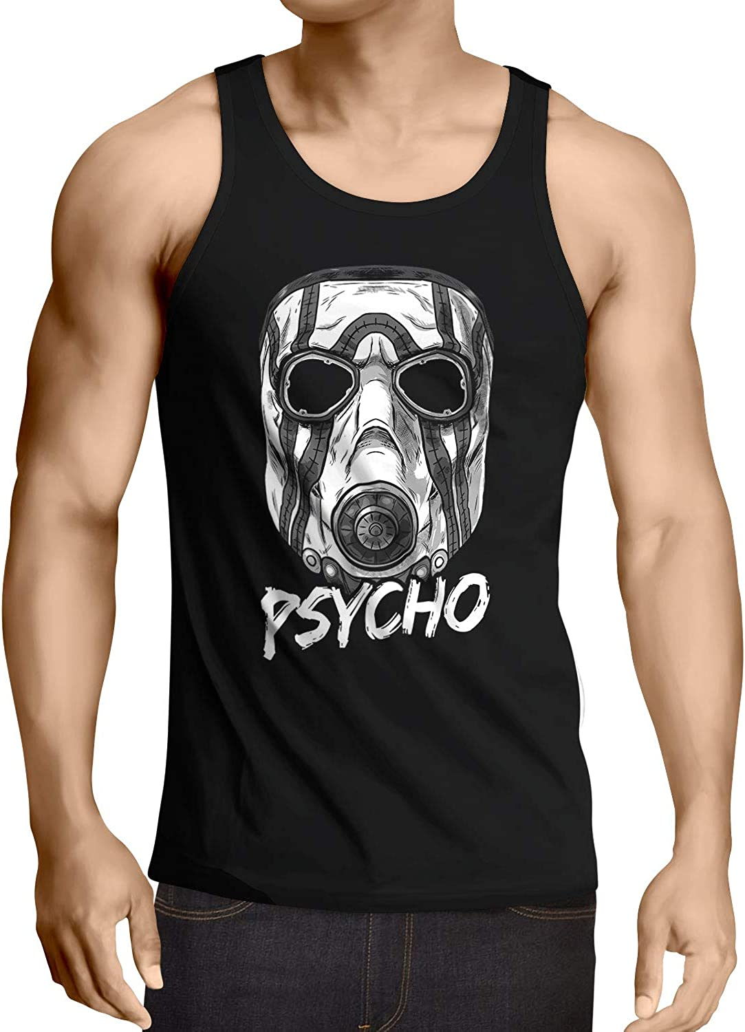 Psycho Tank Top Uomo Canotta Canottiera Cell Shading Ego Shooter Another Nerd T-Shirt A.N.T A.N.T