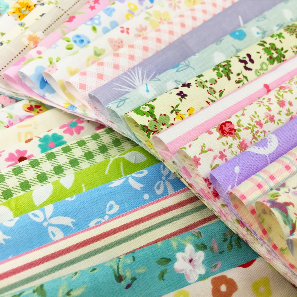 8 x 8 inches, 30pcs flic-flac Quilting Fabric Squares 100/% Cotton Precut Quilt Sewing Floral Fabrics for Craft DIY
