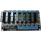 Ecloud Shop 5V Relé de estado sólido de 8 canales Disparador de alto nivel Junta del módulo SSR para Arduino ARM DSP PIC con fusible resistivo