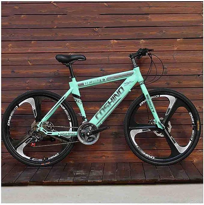 Bicicleta para joven Bicicletas De carretera Bicicletas de montaña for adultos bicicletas MTB Hombres de camino de la bicicleta for las mujeres de 24 pulgadas ruedas ajustables doble freno de disco: Amazon.es:
