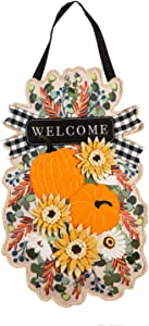Evergreen Flag Beautiful Autumn Floral Swag Hanging Door Décor - 15 x 1 x 24 Inches Fade and Weather Resistant Outdoor Decoration for Homes, Yards and Gardens
