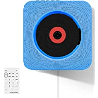 Leoie Wall Mountable Portable Bluetooth Music CD Player with Remote Control
