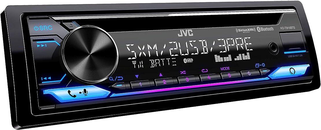 Amazon.com: JVC KD- T915BTS Bluetooth Car Stereo Receiver with USB Port -  2-Line LCD Display AM/FM Radio – CD and MP3 Player Amazon Alexa Compatible  – Single DIN - 13-Band EQ (Black):Amazon.com