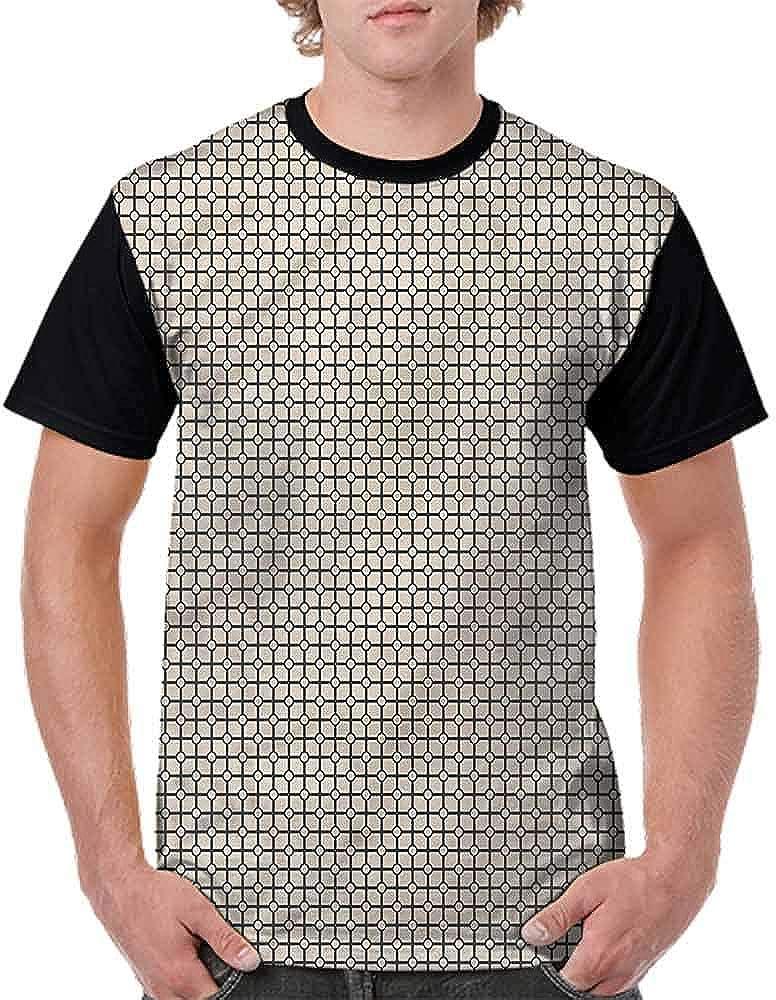 BlountDecor Trend t-Shirt,Inner Lines Rhombus Boho Fashion Personality Customization