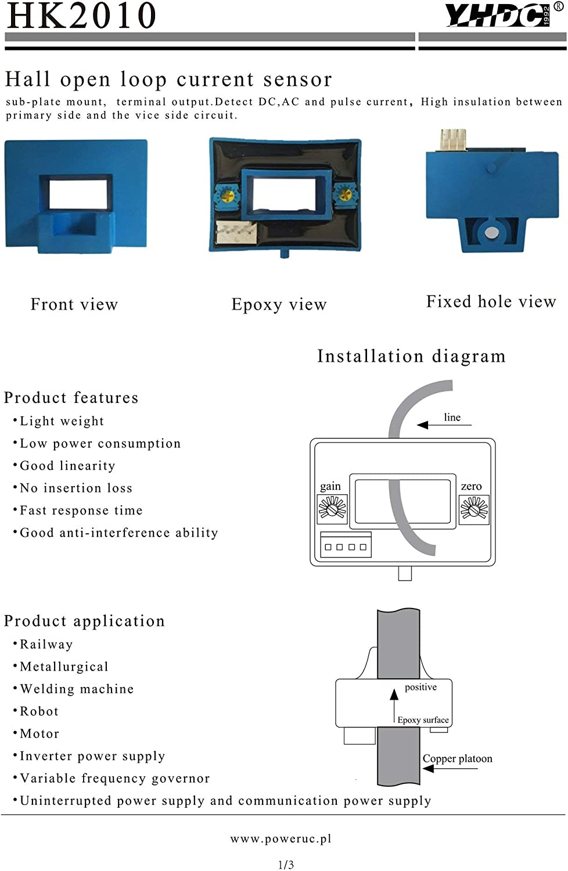 S 2010/50/A//4/V Strom-Sensor Hall Effekt in Schleife geschlossen und Reichweite Variable HK