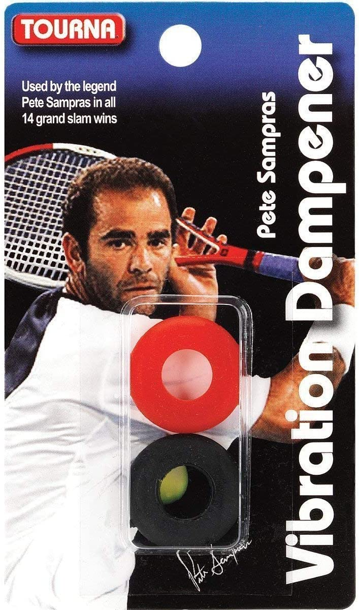 Tourna Unique Sampras Dampener (Black/Red) : Tennis Racket Grips : Sports & Outdoors