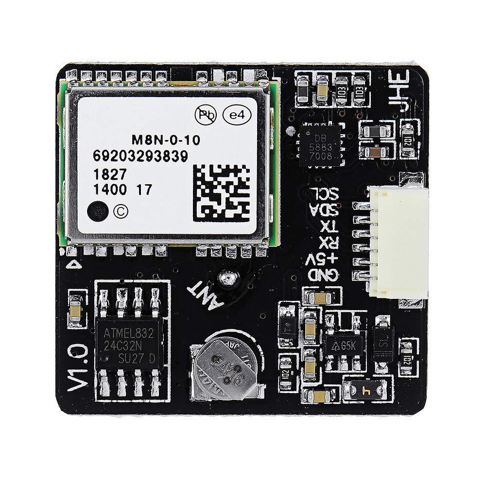VIDOO Jhe M8N GPS Módulo Incorporado Qmc5883 Brújula para F3 F4 F7 Inav Controlador De Vuelo RC Drone