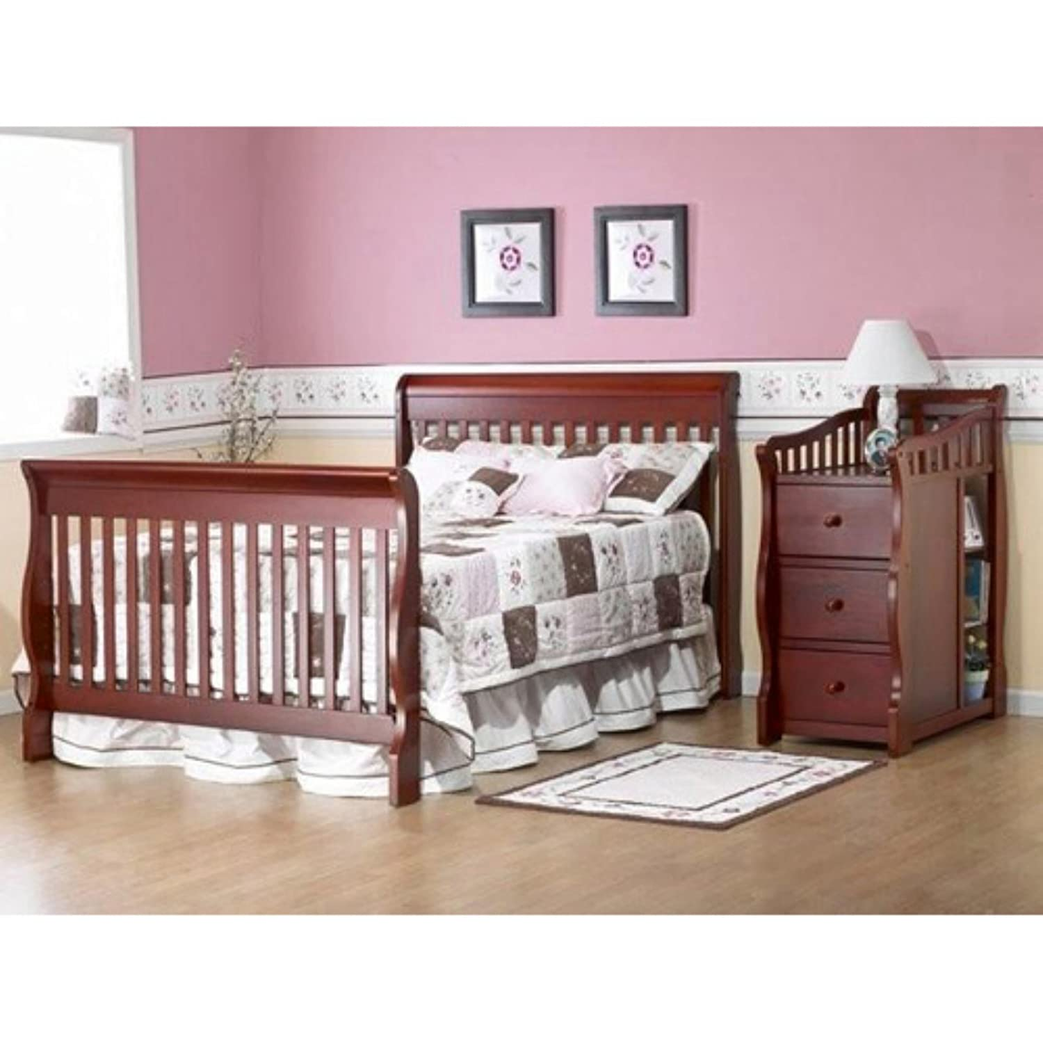 manor million conversion in crib w table louis and changing toddler kit baby dollar convertible grey product bed