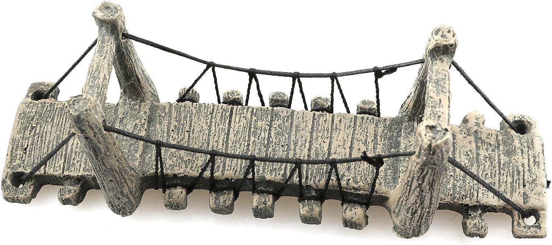 LQ Industrial Aquariums Decorations Fish Tank Bridge Decoration Accessories Fish Hideout Drawbridge Landscape Ornament