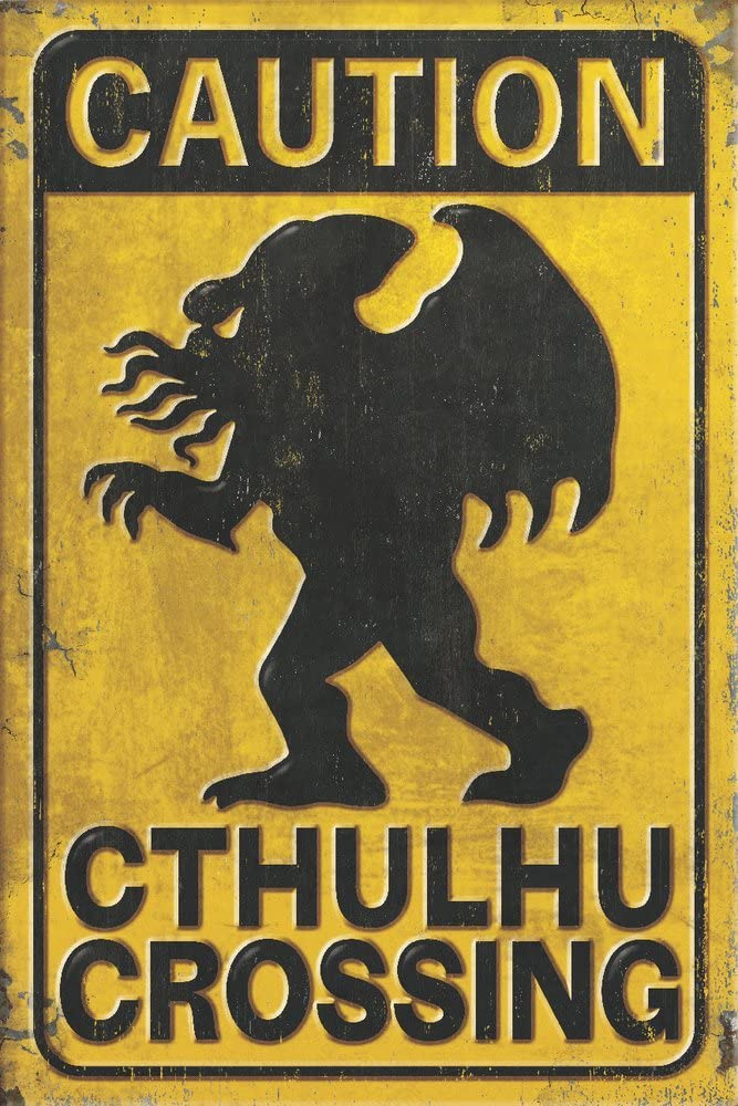 Cthulhu Crossing (9x12 Art Print, Wall Decor Travel Poster)