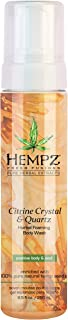 product image for Hempz Fresh fusions citrine crystal & quartz herbal foaming body wash, 8.5 Ounce
