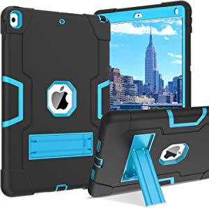 """BENTOBEN iPad Air 3 10.5"""" 2019 Case, iPad Pro 10.5"""" 2017 Case, 3 Layers Heavy Duty Rugged Shockproof Kickstand Sturdy Protective Tablet Case Cover for iPad Air 3rd Gen/iPad Pro 10.5 Inch, Blue/Black"""