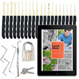 Deluxe Transparent Lock24PCS with ebook and Tools - Perfect practice lock set