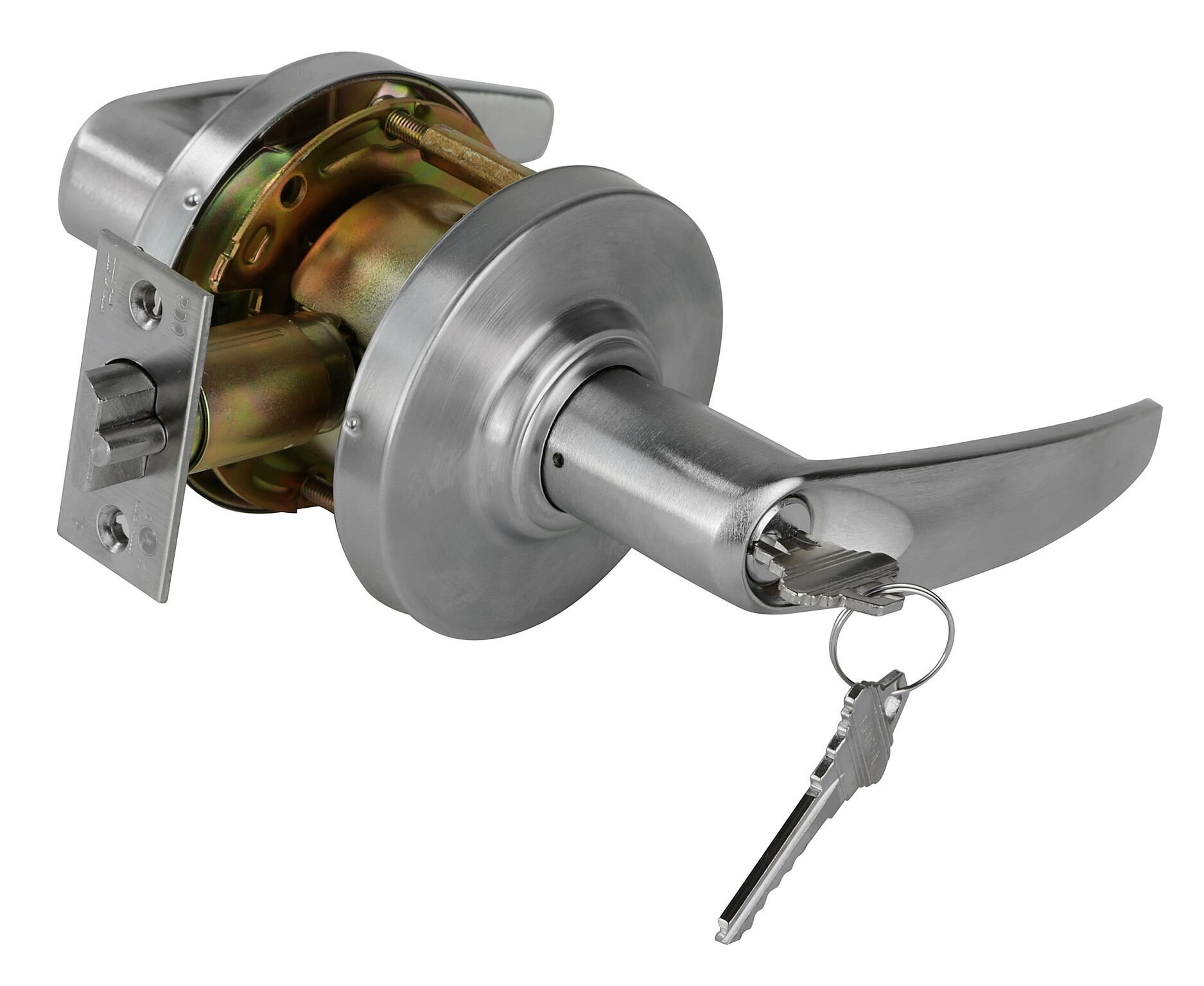 PDQ Grade 2 SD Heavy Duty Non-Handed Commercial Cylindrical Lever Lock Satin Chrome Finish 26D (Storeroom)