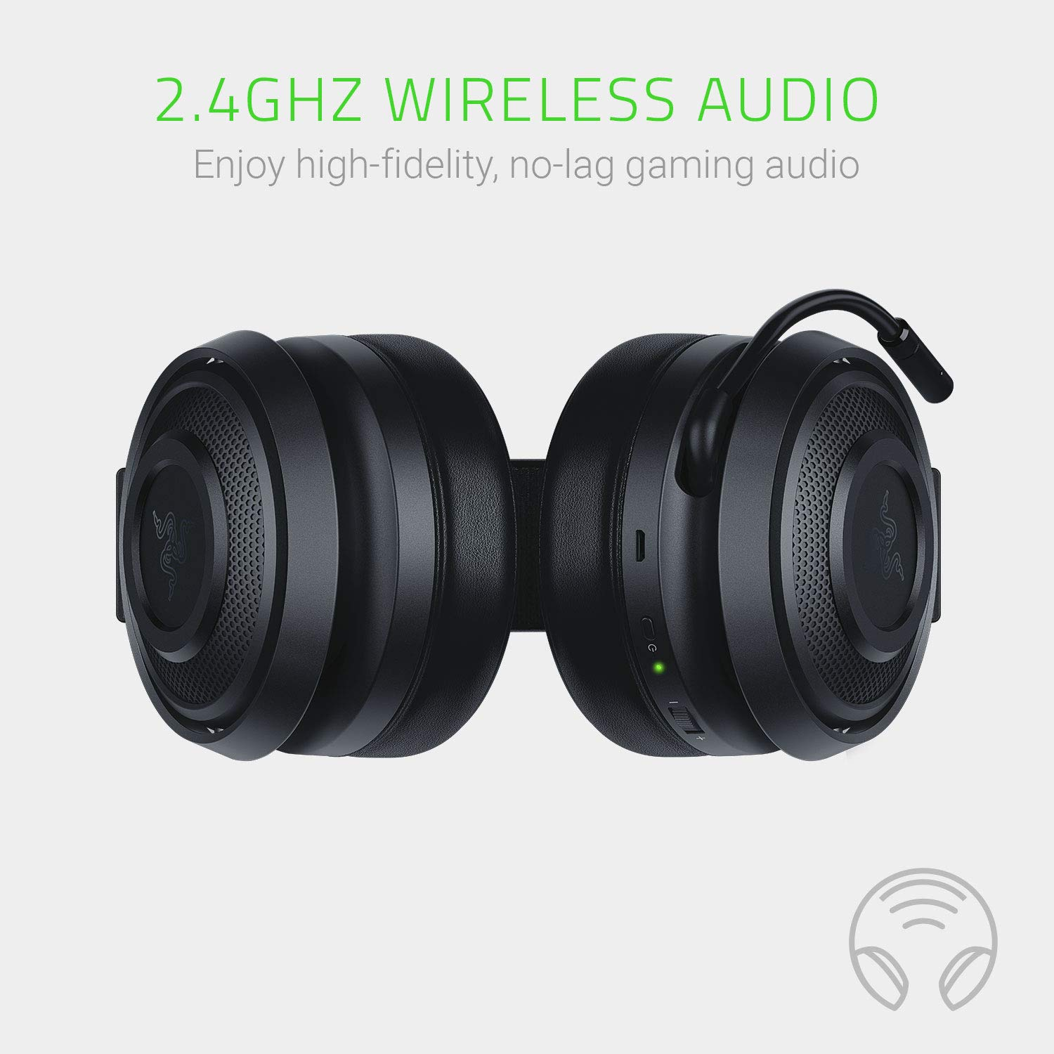Razer Nari Essential: THX Spatial Audio 2.4GHz Wireless Audio Gaming Headset Works with PC and PS4 Auto-Adjusting Headband