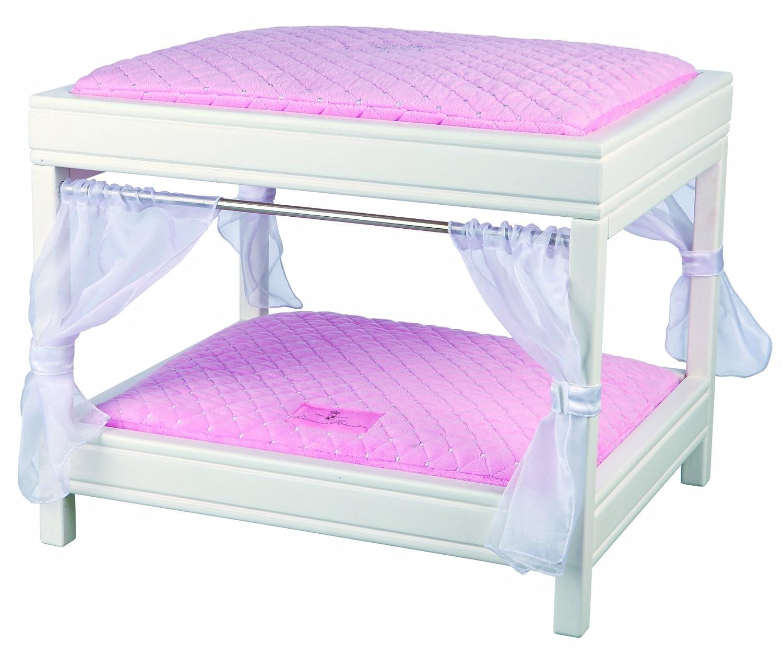 Trixie My Princess Himmelbett, Holz, 50 × 40 × 42 cm, weiß/rosa ...
