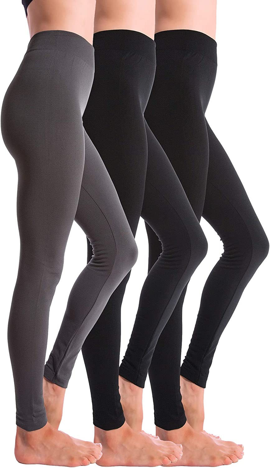 3 Pack Fleece Lined Thick Brushed Leggings Thights By Homma Amazon Ca Luggage Bags