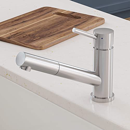 Alfi AB2025 Solid Stainless Steel Pull Out Kitchen Faucet