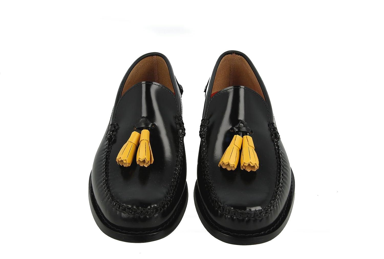KERRIMAN® Castellanos Hombre Negro con BORLAS YEMA: Amazon.es: Zapatos y complementos