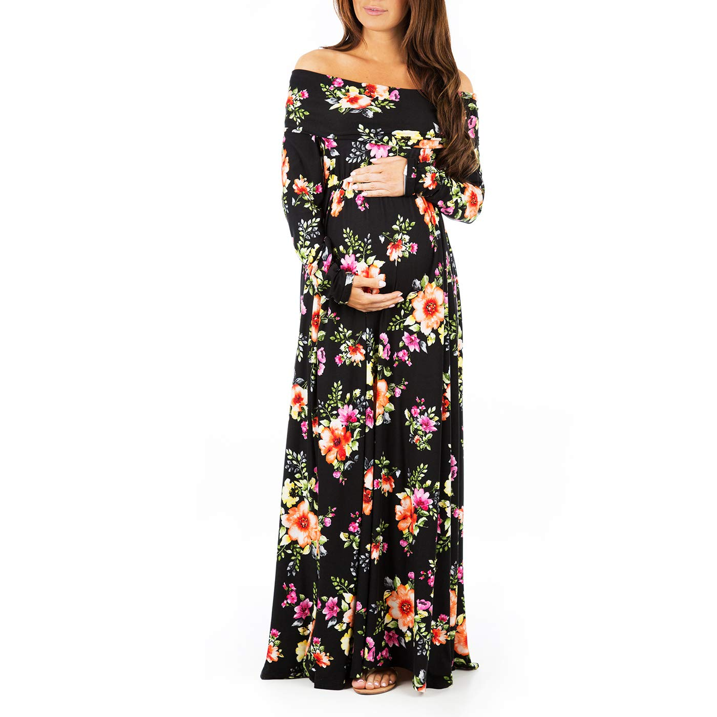 caedf683ae Womens Cowl Neck and Over The Shoulder Maternity Dress at Amazon Women s  Clothing store
