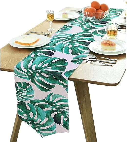 Aytai Camino de mesa de lino y algodón de 30,48 cm x 20,32 cm ...