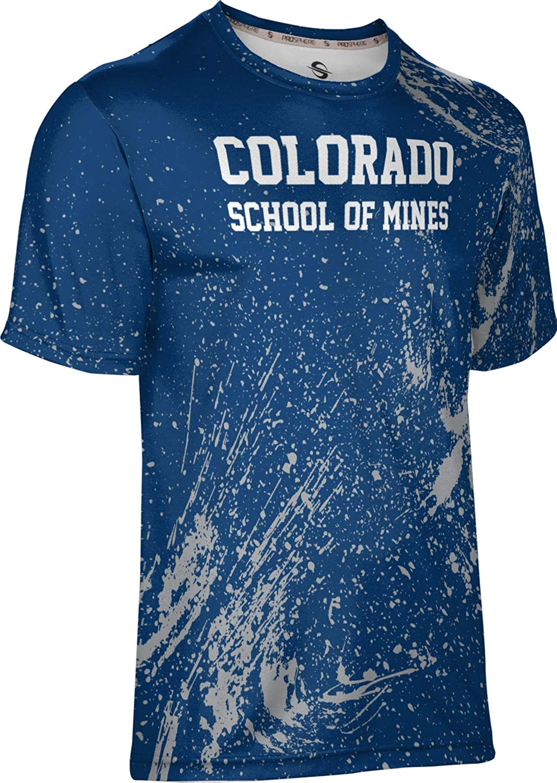 Colorado School of Mines University Mens Performance T-Shirt Splatter