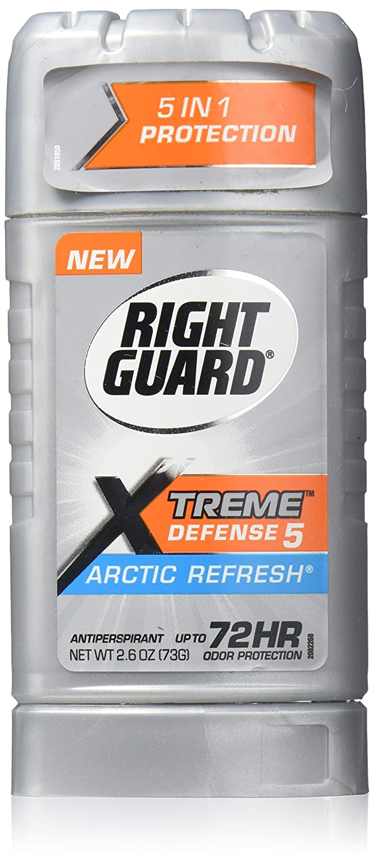 RIGHT GUARD Total Defense 5 Anti-Perspirant & Deodorant, Power Stripe, Arctic Refresh, 2.6 oz