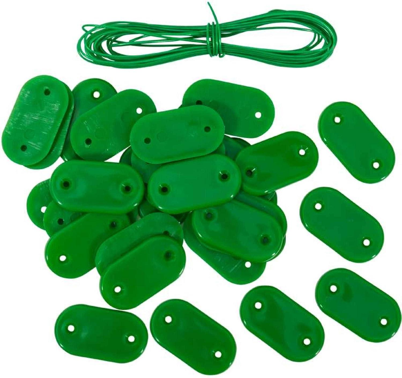 Verde Canisse e Natta Werkapro Kit 30 Fissaggi per Frangivista