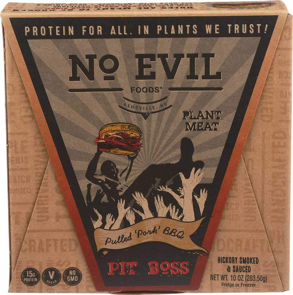 No Evil Foods Pit Boss Pulled Pork BBQ, 10 Ounce -- 6 per case.