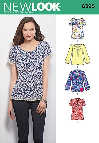 Amazon.com: New Look Sewing Pattern UN6395A Autumn Collection Misses ...