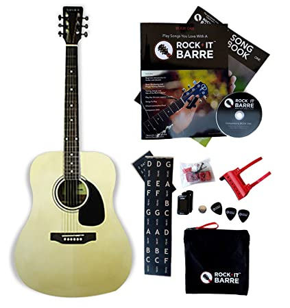 Amazon Acoustic Guitar Wrock It Barre Starter Kit Tanara