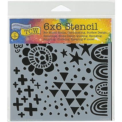 12x12 Summer Burst Floral Design Crafter Workshop HomeDecor Art Layering Stencil
