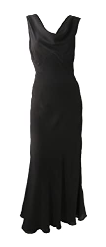 Vintage Evening Dresses and Formal Evening Gowns Vintage 1930s Style Black Silk Gown  AT vintagedancer.com