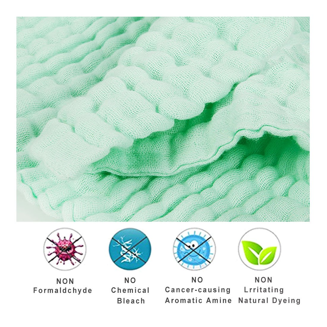 Kyapoo Baby Muslin Washcloths and Towels Premium Extra Soft Newborn Baby Face Towel Baby Registry as Shower Gift 5 Pack KYP9099